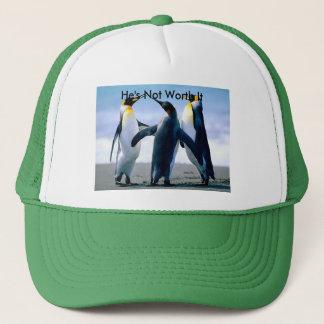 Chapéu com imagem de combate do pinguim boné