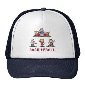 Chapéu da banda de rock and roll do pixel boné
