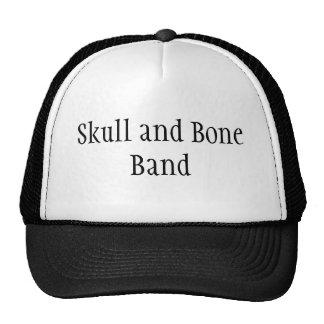 Chapéu da banda do crânio e do osso boné