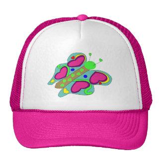 Chapéu da borboleta do coração boné