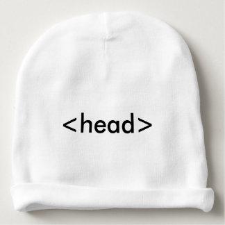 Chapéu da cabeça do geek do HTML do programador do Gorro Para Bebê