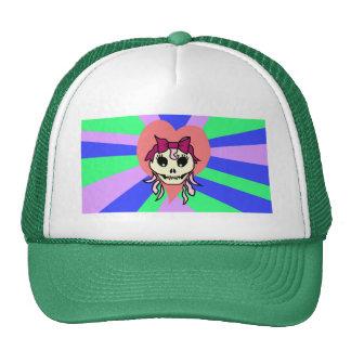 Chapéu da menina do crânio boné