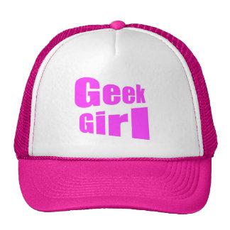 Chapéu da menina do geek boné