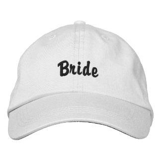 "Chapéu da ""noiva"" boné bordado"