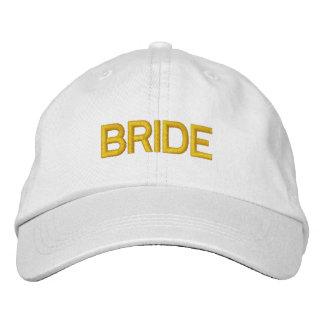 Chapéu da noiva boné bordado