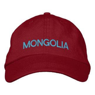 Chapéu de basebol ajustável de Mongolia Boné Bordado