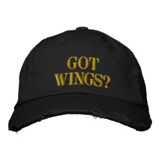Chapéu de basebol obtido das asas boné bordado