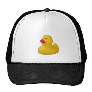 Chapéu de borracha amarelo do divertimento do pato boné