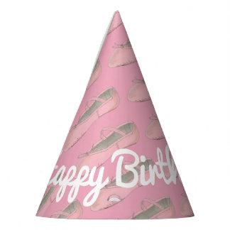 Chapéu De Festa Aniversário cor-de-rosa personalizado da bailarina