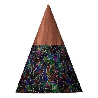 Chapéu De Festa Mosaico Lora, multicolorido