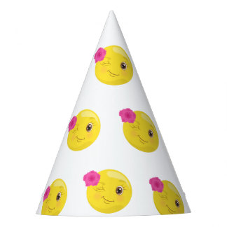 Chapéu De Festa Piscar os olhos floral Emoji feminino