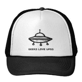 Chapéu de UFOs do amor dos geeks Boné