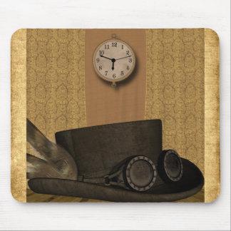 Chapéu de vestido de papel antigo Mousepad de Stea
