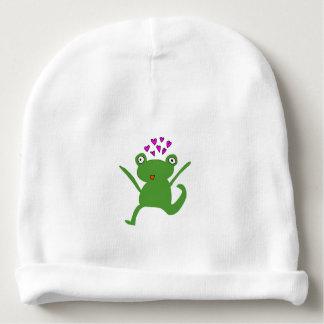 Chapéu do amor do sapo gorro para bebê