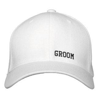 Chapéu do branco do noivo boné bordado