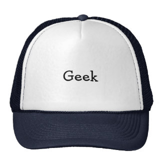 """Chapéu do camionista com o """"geek """" boné"""