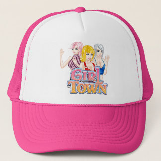 Chapéu do camionista da cidade da menina boné