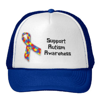 Chapéu do camionista da consciência do autismo do  bone