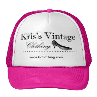 Chapéu do camionista da roupa do vintage de Kris Boné