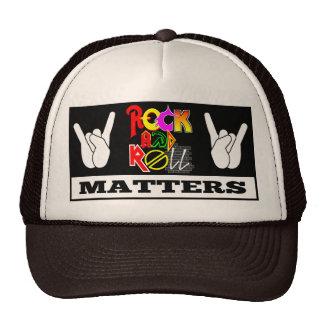 Chapéu do camionista das matérias do rock and roll boné