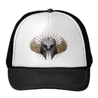 Chapéu do camionista do capacete e das asas boné