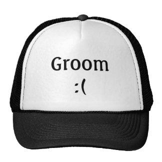 Chapéu do camionista do casamento do noivo boné