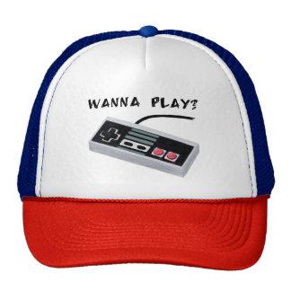 Chapéu do camionista do console do vintage boné