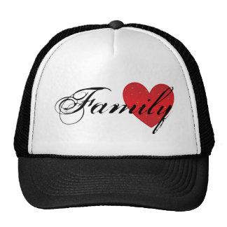 Chapéu do camionista do coração da família bonés