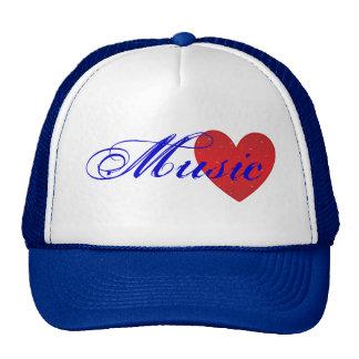 Chapéu do camionista do coração da música boné
