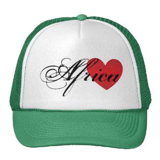 Chapéu do camionista do coração de África Bonés