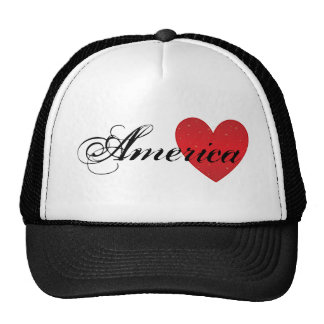 Chapéu do camionista do coração de América Boné
