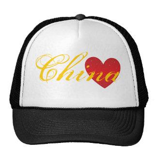 Chapéu do camionista do coração de China Bonés