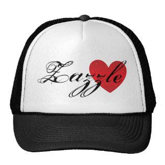 Chapéu do camionista do coração de Zazzle Boné