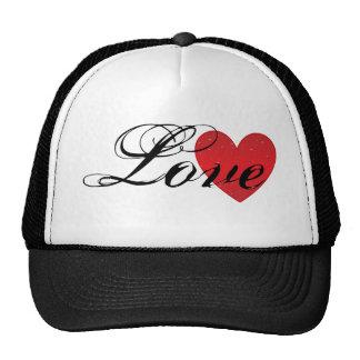 Chapéu do camionista do coração do amor bones