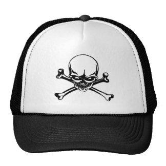 Chapéu do camionista do crânio 2 boné