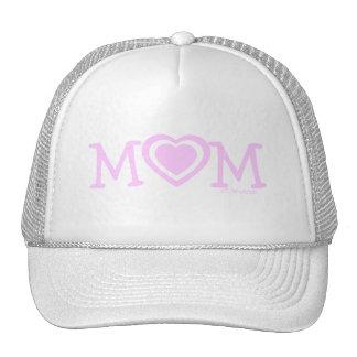 Chapéu do dia das mães com corações cor-de-rosa bones