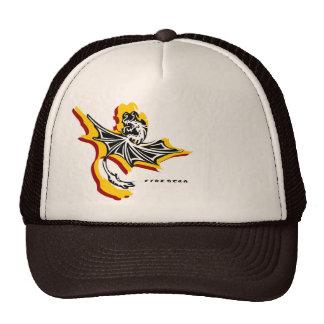 Chapéu do dragão da estrela do fogo (preto/branco/ boné