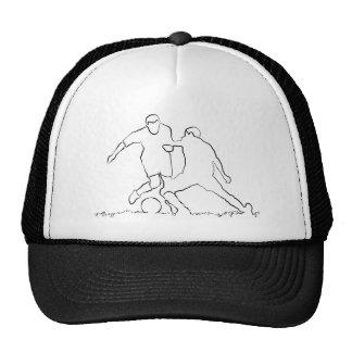 Chapéu do esboço dos jogadores de futebol boné