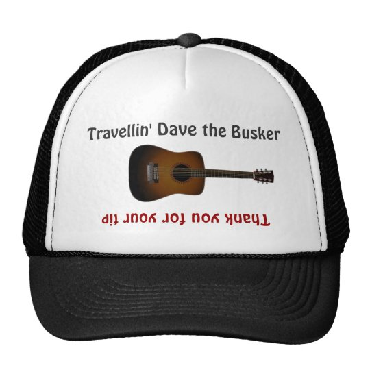 Chapéu do frasco da ponta da guitarra dos músicos boné