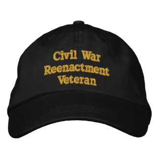 Chapéu do veterano do Reenactment da guerra civil Boné Bordado