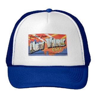 Chapéu dos homens da Nova Iorque do vintage Boné