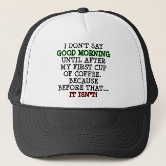 Chapéu engraçado do camionista do boné da bola do