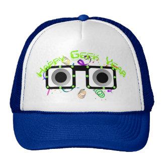Chapéu feliz do ano do geek boné
