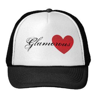 Chapéu glamoroso do camionista do coração bones