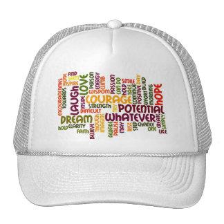 Chapéu inspirador dos camionistas das palavras #1 bonés