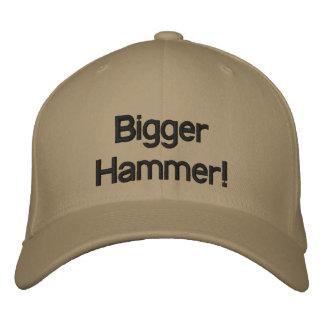 Chapéu mais grande do martelo boné bordado