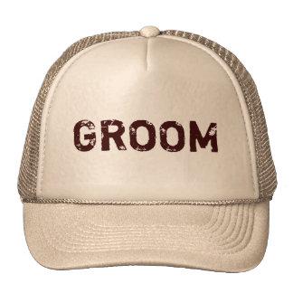 Chapéu natural do noivo do tema de Brown Boné