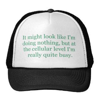Chapéu nivelado celular boné