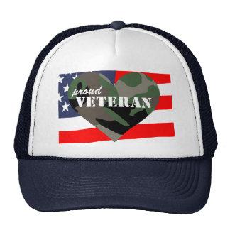 Chapéu orgulhoso dos veteranos do coração da camuf bones
