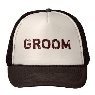 Chapéu rústico bege do noivo do tema de Brown Boné